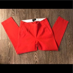 Red J. CREW Martie Pant
